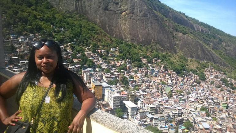 Beautiful view from the hills of the favela.