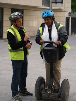 Azalia, 57 year old Grandmother, learning to use the Segway within a controlled environment., Michael B - May 2009