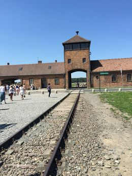 rail where the train with the people came to the concentration camp , my travels - July 2015
