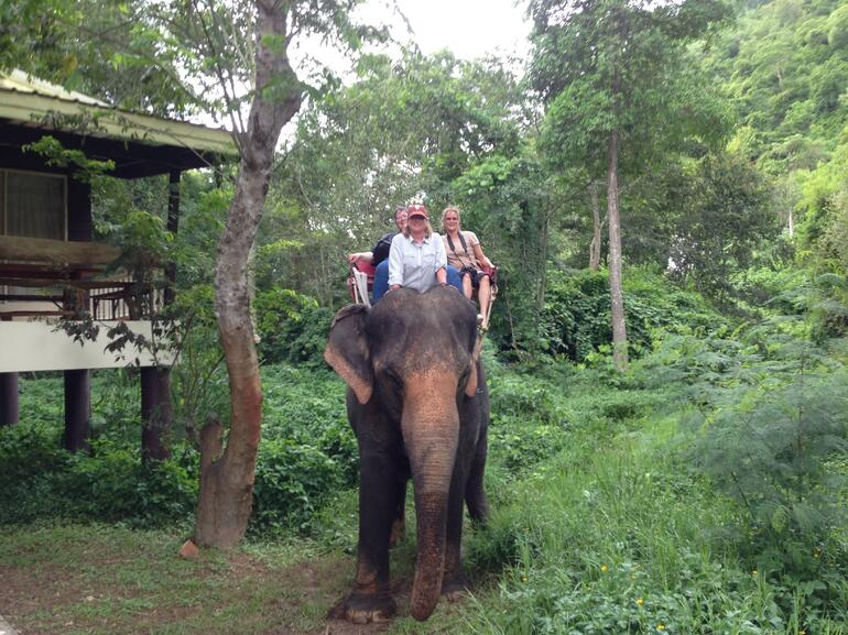 Elephant Ride - we lost - Bangkok