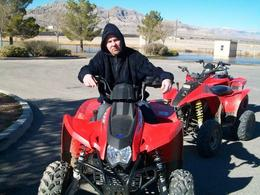 In the bright sunlight - there is nothing better to do than get outdoors and ride ATV's, Dave S - February 2011