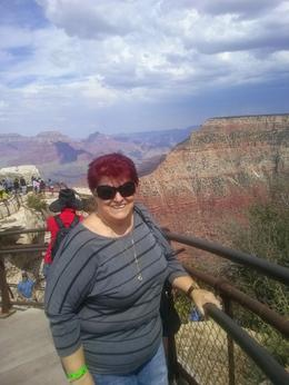 Photo of Las Vegas Grand Canyon South Rim Bus Tour with Optional Upgrades hold on the rail!!