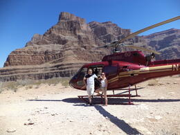 Mr and Mrs McGreevy on the floor of the Grand Canyon near native American reserve , SEAN M - July 2013