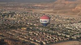 Float above Las Vegas on the Sunrise Hot Air Balloon Ride. - August 2011