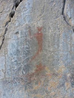 One of the thousand year old petroglyphs., Kelly G - February 2010