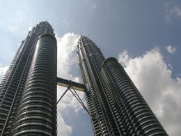 Looking up at the Petronas Towers., Tighthead Prop - September 2010