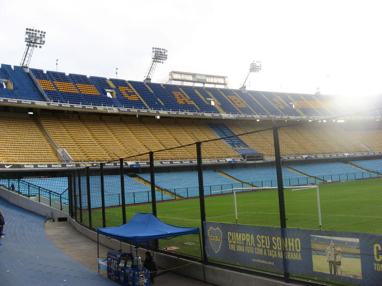 A view of the stands.