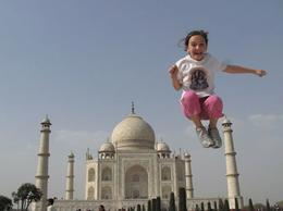 """Jumping"" over the Taj Mahal - April 2010"
