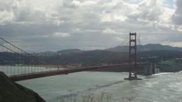 Photo of San Francisco Alcatraz Tour plus Muir Woods, Giant Redwoods and Sausalito Day Trip golden gate bridge northside lookout