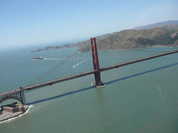 A view of the Golden Gate bridge from the air , Mrs Eileen T - June 2013