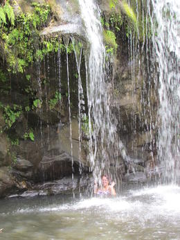 Photo of Big Island of Hawaii Kohala Waterfalls Small Group Adventure Tour lets go swimming