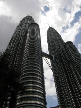 Another shot looking up at the Petronas Towers, you can see the skybridge between them., Tighthead Prop - September 2010