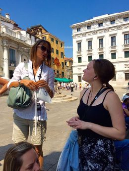 My daughter learning more about Venice from our tour guide. , Koby M - June 2015