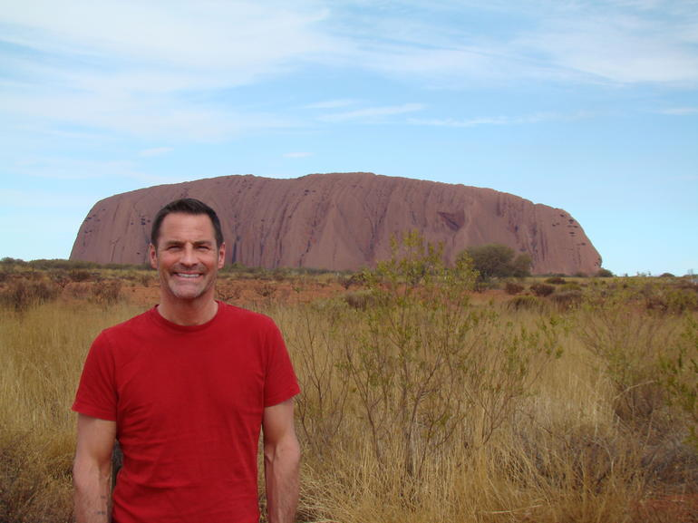 Ted at Ayers Rock - Ayers Rock