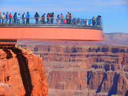 Photo of Las Vegas Grand Canyon and Hoover Dam Day Trip from Las Vegas with Optional Skywalk The Glass bottomed look out at Eagle Point