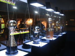 Some of the trophies the Boca Juniors have won over the years., Bandit - June 2012
