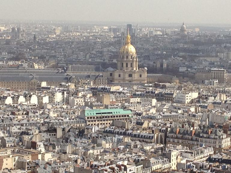 view from the 2nd level of the Eiffel Tower - London