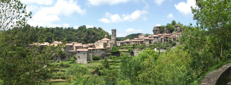 View of Rupit, from the little old monastery on the outskirts of town - Barcelona