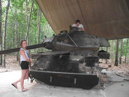 Photo of Ho Chi Minh City Cu Chi Tunnels Small Group Adventure Tour from Ho Chi Minh City American Tank on Cu Chi Tunnels tour