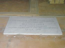 Photo of Rome Ghost and Mystery Walking Tour of Rome Beatrice Cenci plaque