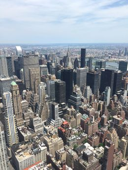 View from the Empire State Building with the Chrysler Building, AM - June 2016