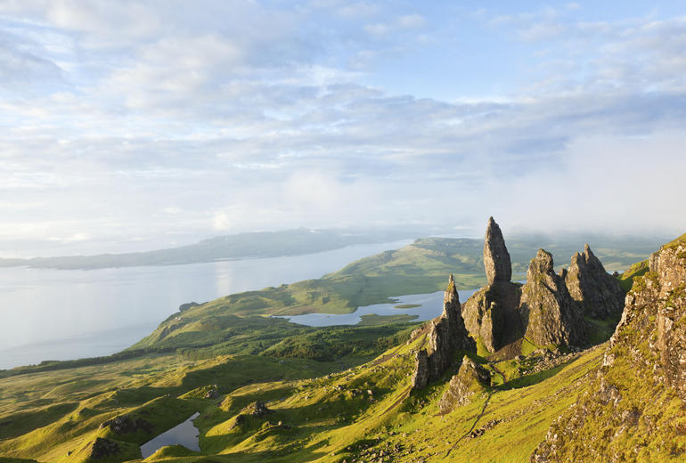 View over the Old Man of Storr, Isle of Skye - Edinburgh