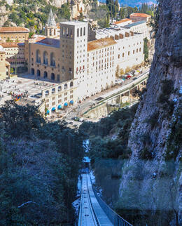 Photo of Barcelona Private Montserrat, Gaudi and Modernism Day Trip from Barcelona Heading up the funicular to the very top.  A must!!