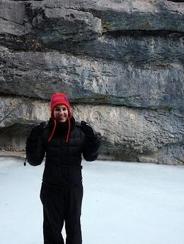 Photo of Banff Grotto Canyon Icewalk Kelly in Canyon