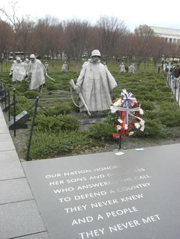 This is the Korean War Memorial next to the Lincoln Memorial., Natalia G - March 2008