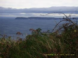 Looking out toward Rathlin Island off the coast of Northern Ireland. Beyond it is Scotland., Lacey B - November 2008