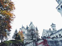 Neuschwanstein Castle - the view from the start of tour of this castle. , Margaret F - October 2015