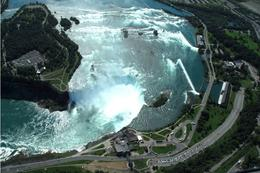 Flying over Niagara Falls on our helicopter flight., Jeff - July 2009
