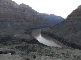 Photo of Las Vegas Grand Canyon West Rim Deluxe Sunset Helicopter Tour Overlooking the canyon from the landing site