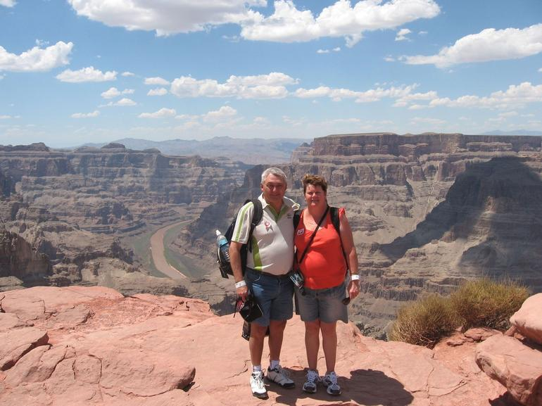 The Grand Canyon - hot and windy - Las Vegas