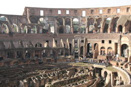 Photo of Rome Rome Super Saver: Colosseum and Ancient Rome with Best of Rome Afternoon Walking Tour The inside of the Colosum