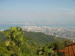 Photo of   The scene of Penang from the peak of Penang Hill