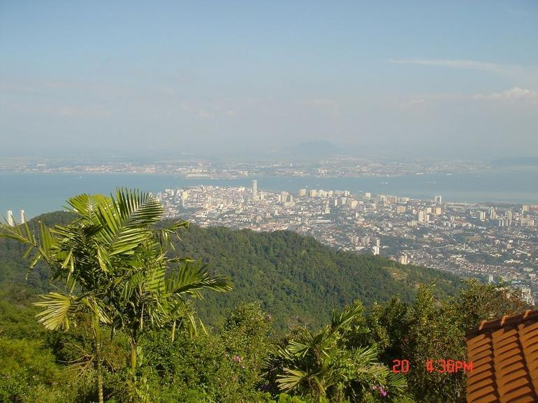 The scene of Penang from the peak of Penang Hill - Penang