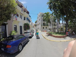 This is the group with us wife is directly in front of me going down an old street in San Juan Puerto Rico. , David W - May 2016