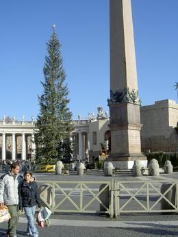 The Vatican city at Christmas. This photo was taken right out in front of the Vatican., Robert C - January 2008