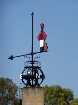 In the Guinness World Record Book for being the largest wind vane that actually works. , Lizette G - August 2015