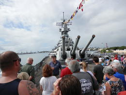 We were touring the USS Missouri with a volunteer who explained many things. , Geraldine L - November 2013