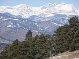 Photo of   View of the Rocky mountains from one of our stops.