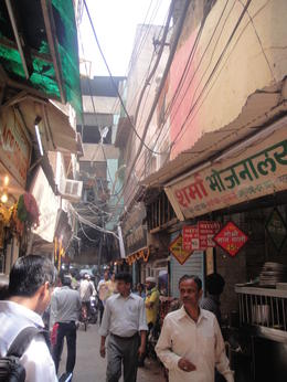Photo of New Delhi Old Delhi Half Day Small Group Tour Walking on the street of Chandni Chowk