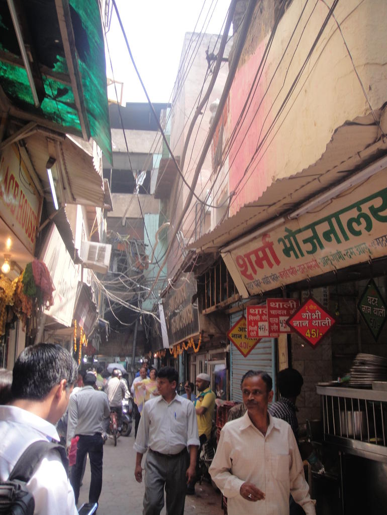 Walking on the street of Chandni Chowk - New Delhi
