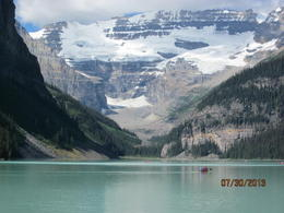 Photo of   Lake louise and the snow covered mountain