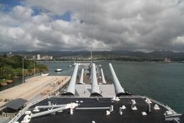 Photo of Oahu USS Missouri, Arizona Memorial, Pearl Harbor and Punchbowl Day Tour Looking toward the USS Arizona from the bridge of the USS Missouri