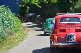 Our group consists of 2 Vespas and 3 Cinquecentos. , Areocat - June 2013