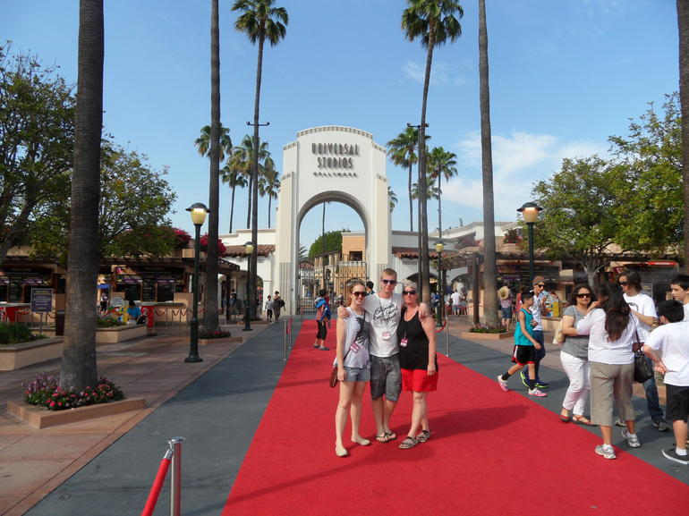 The entrance to Universal Studios - Los Angeles