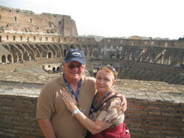 Keith and Debbie Johnson, touring Colosseum in Rome , Keith H J - December 2015
