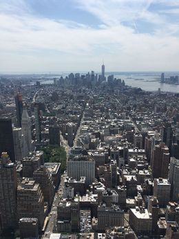 View of downtown, including the new One World Observatory, AM - June 2016